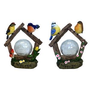 Birds Crackle Ball Solar Light