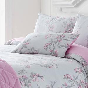 Maisy Cushion Grey/Pink 30cm x 50cm