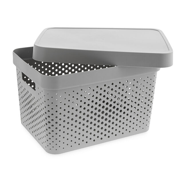Infinity Charcoal 17L Basket with Lid