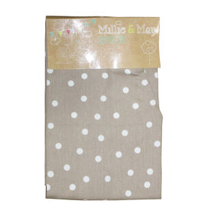 Polka Dot Natural Apron