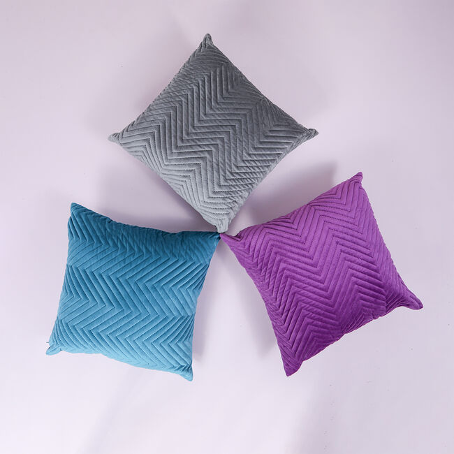 Triangle Stitch Cushion 45x45cm - Teal