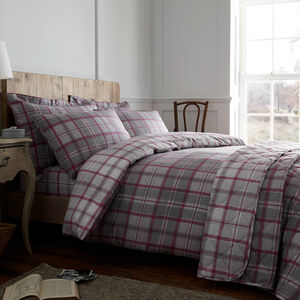 KING DUVET COVER Brushed Cotton O'Leary Check