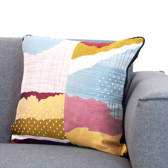 Atlantis Abstract Cushion 58x58cm - Multi