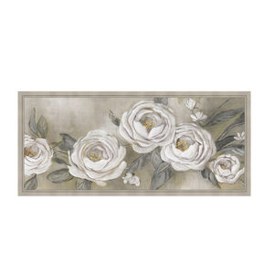 Silver Roses Framed 47 x 108 cm