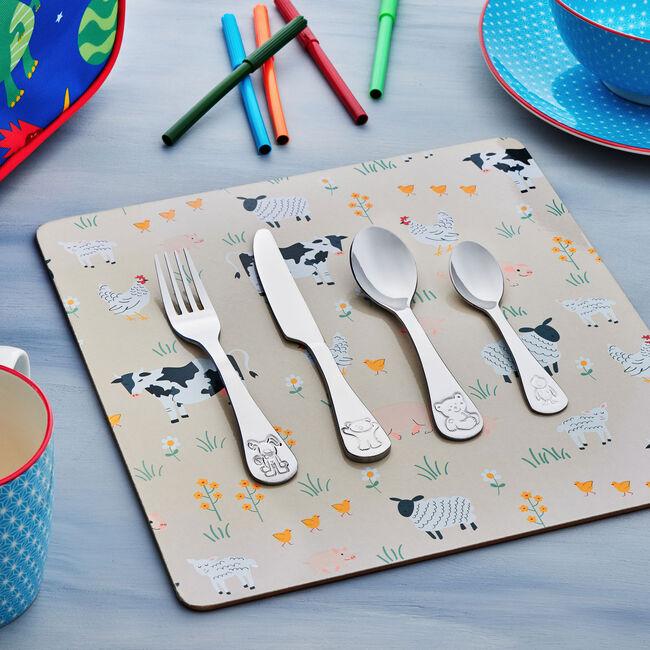 Animal Kids Cutlery Set 4 Piece
