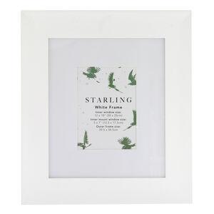 5x7 Mount Starling White Frame