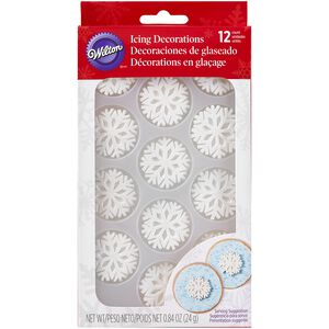 Wilton Shimmer Snowflake Royal Icing Decorations