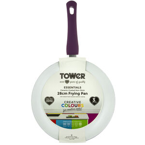 Tower Ceramic Plum Frying Pan 28cm