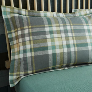 Brushed Cotton Naughton Oxford Pillowcases - Check