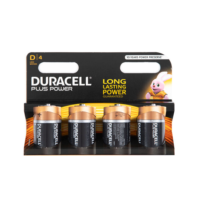 Duracell Ultra D 4 Pack (+ 4 free)