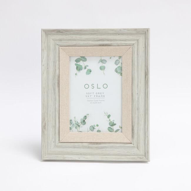 Oslo Soft Grey Photo Frame 5x7""