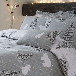 Polar Bears Grey Cushion 30x50cm