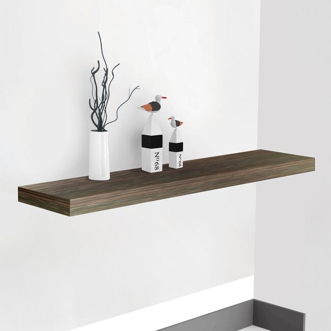 Bergen 80cm Walnut Effect Floating Shelf