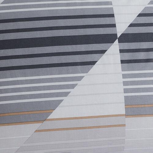 Logan Oxford Pillowcase Pair - Grey/Natural