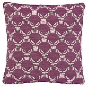 Geo Jacquard Cerise 45x45 Cushion