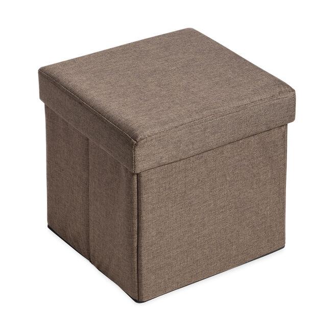 Deluxe Folding Ottoman - Nut Brown