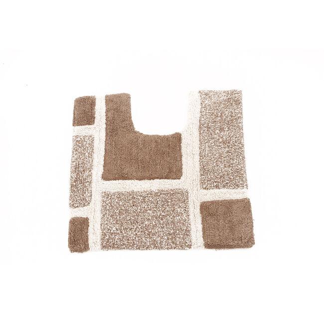 Squares Pedestal Mat Natural