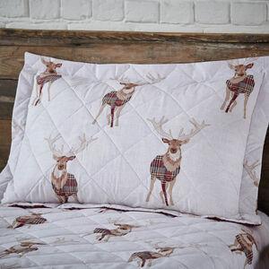 Checkered Stag Berry Pillowshams 50cm x 75cm