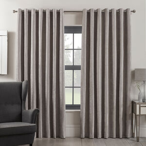 BLACKOUT & THERMAL TEXTURED SILVER 66x54 Curtain