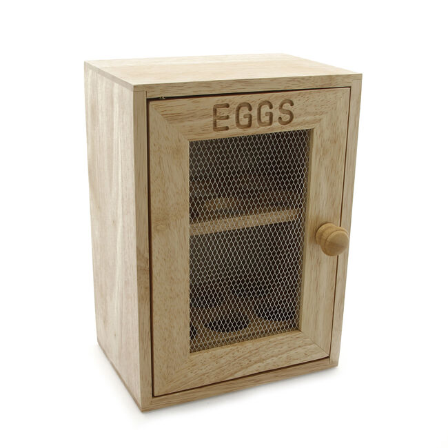 Rubberwood Egg Cabinet