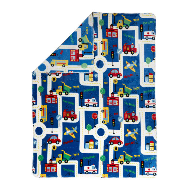 Street Map Throw 120 x 150cm - Blue