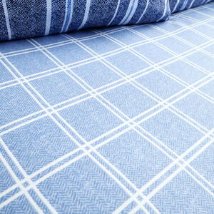 Brushed Cotton Hughes Check Fitted Sheet