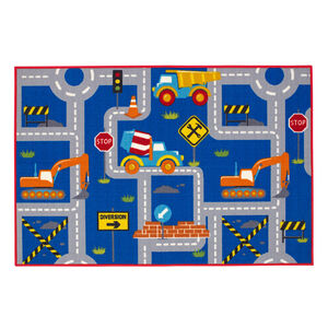 Road Works Childrens Floormat