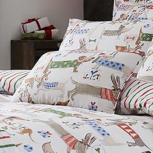Festive Dogs Cushion 30cm x 50cm