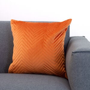Triangle Stitch Cushion 45x45cm - Orange