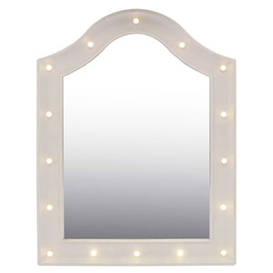 Spotlight Dresser White Mirror w/LED Bulbs 45x62cm