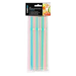 Chef Aid Biodegradable Straws 40 Pack
