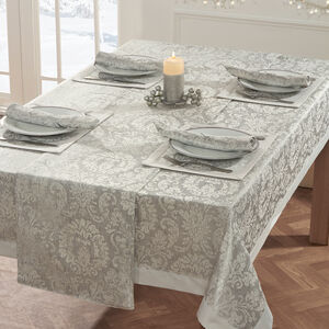 Damask Medallion Table Cloth