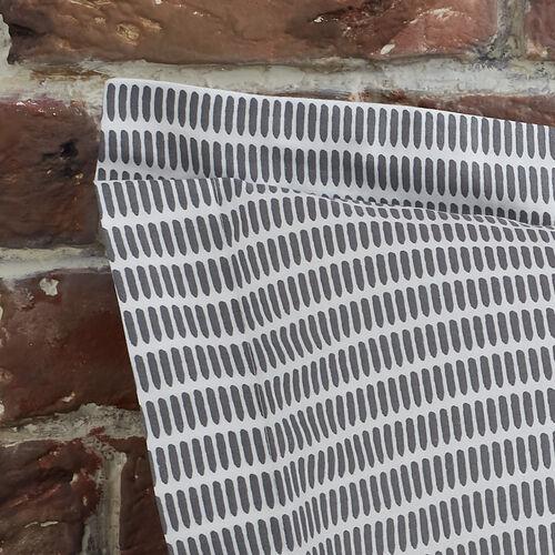 Spliced Geo Oxford Pillowcase Pair - Grey