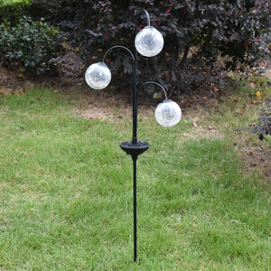 3 Crackle Ball Solar Stake Light
