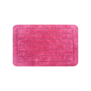 Cotton Brick Blush Pink Bath Mat 50cm x 80cm