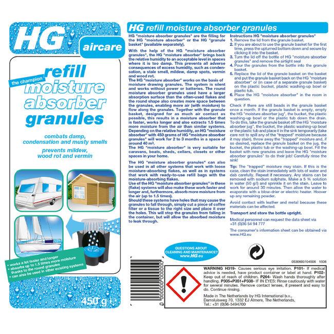 HG Moisture Absorber Granules 450g