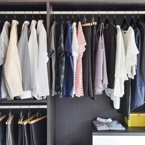 Skinny 10 Pack  Black Hangers with Anti Slip