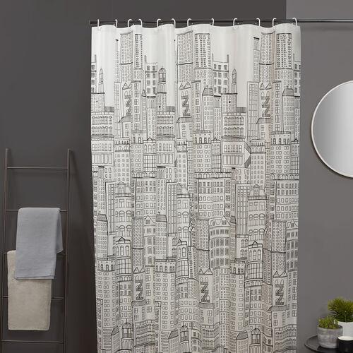 PEVA City Scape Multi Shower Curtain
