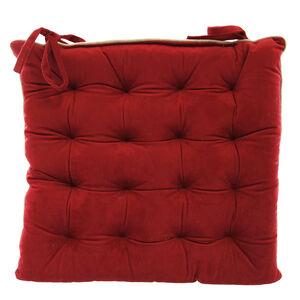 Naomi Red Kitchen Seat Pad