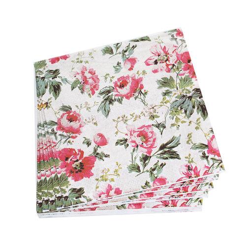 Winter Floral Napkins 20 Pack