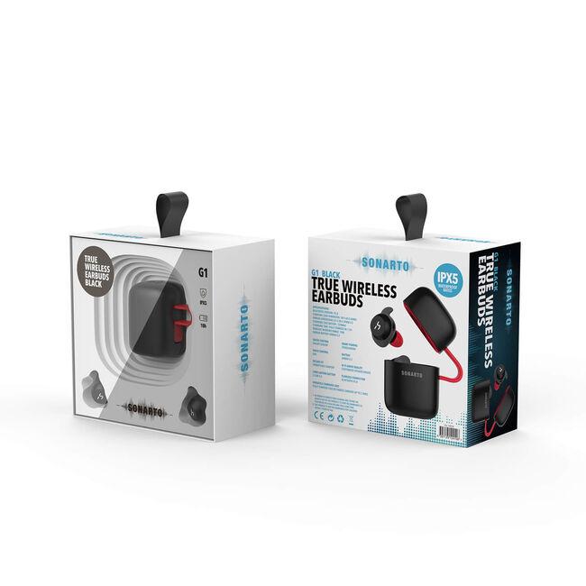 Sonarto True Wireless Earbuds - Black