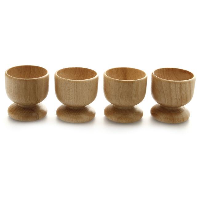 Egg Cups 4 Pack - Beech