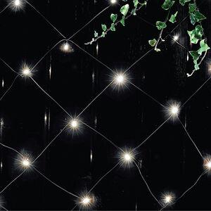 Solar LED White & Blue Net Lights