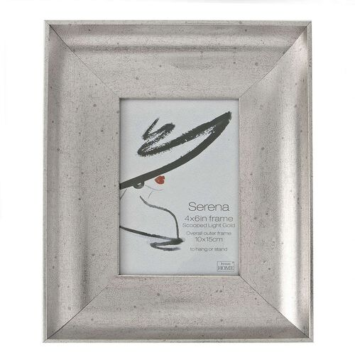 6X8 SERENA AGED SILVER Photo Frame