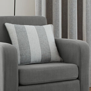 Brushed Stripe Grey Cushion 45cm x 45cm