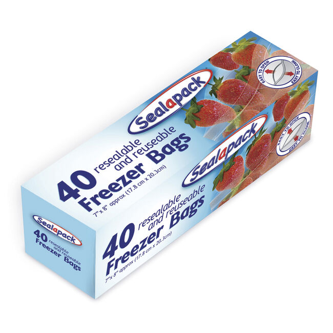 Sealapack Resealable Freezer Bags - 40 Pack