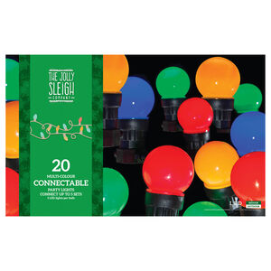20 Multicolour Connectable Party Lights