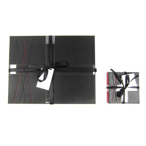 Reversible Diamond Coasters 4 Pack - Black & Red