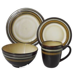 Heritage Pecan 16 Piece Dinner Set