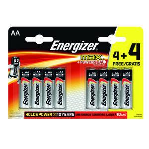 Energizer Max AA 4+4 Free